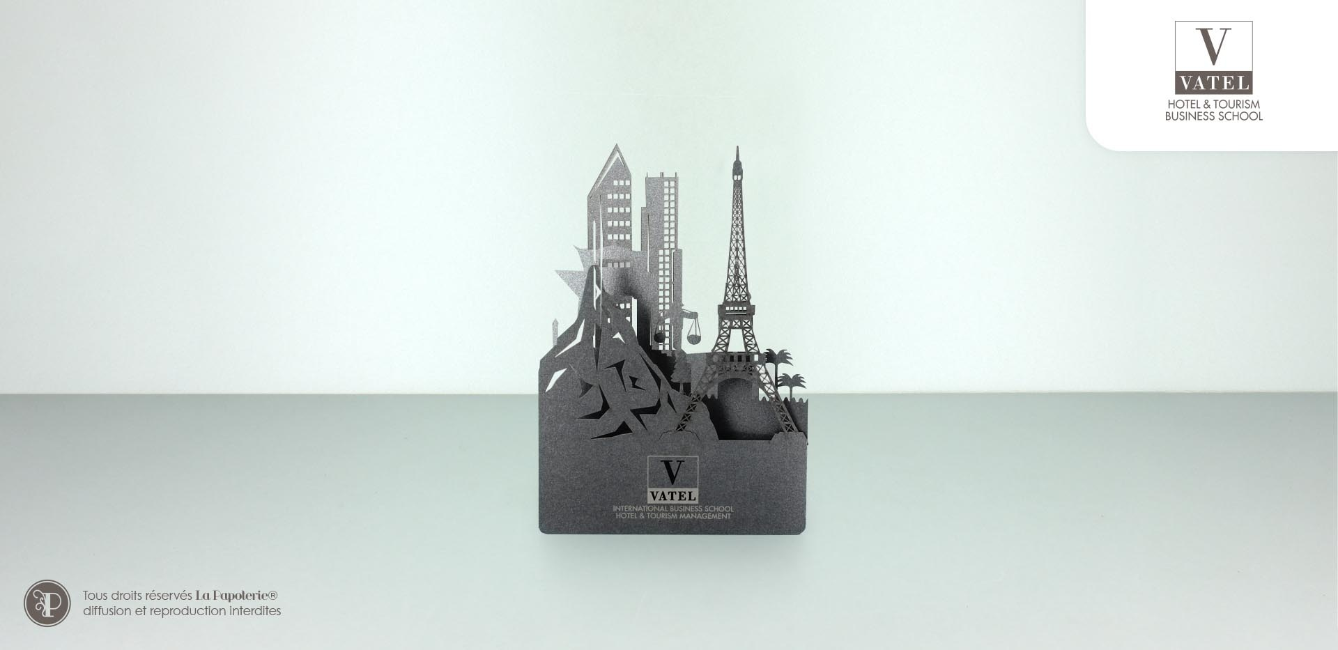 La Papoterie vatel-voeux-2017 Skyline greeting card Vatel