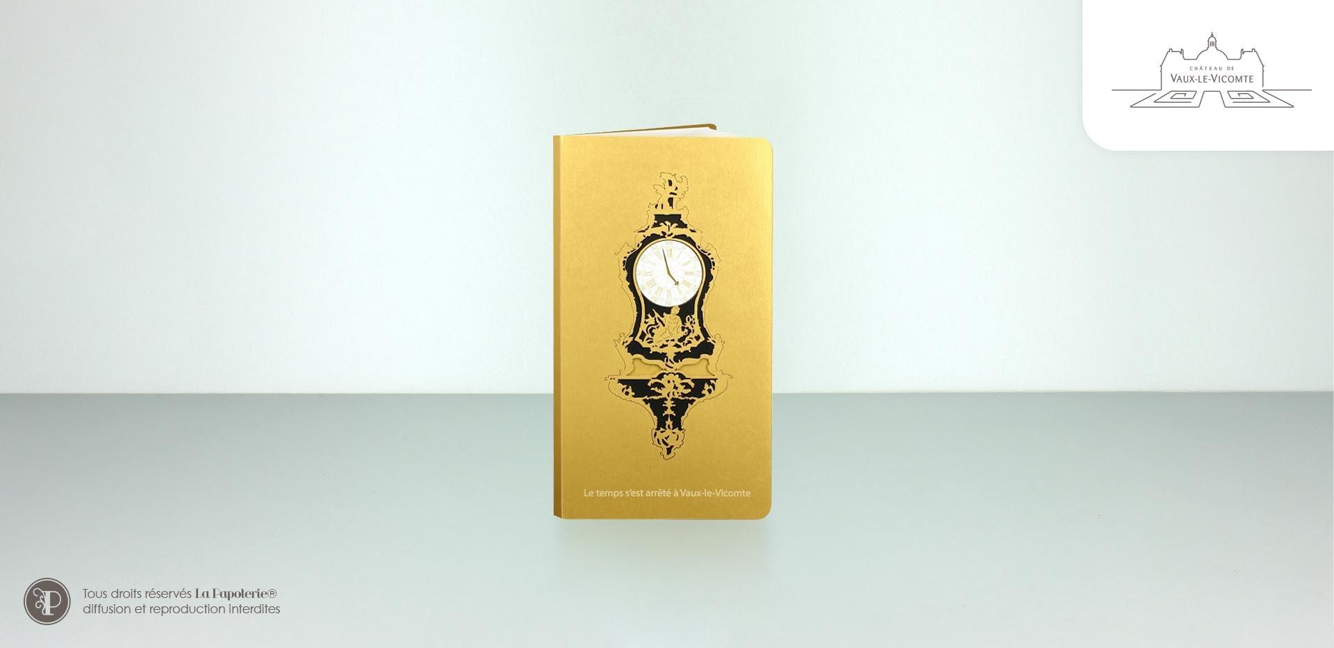 La Papoterie vaux-le-vicomte-poche-or Vaulx le Vicomte pocket notebook