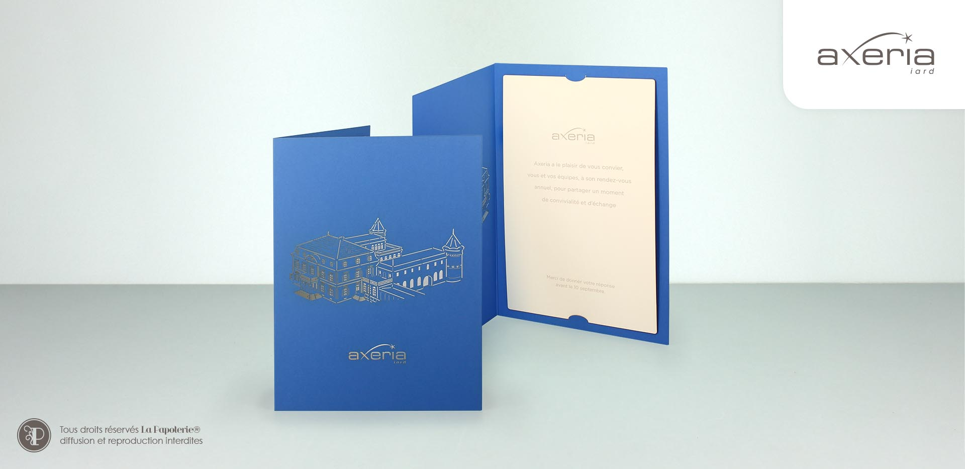 La Papoterie axeria-montcelard-invitation Carte A5 Axeria montcelard