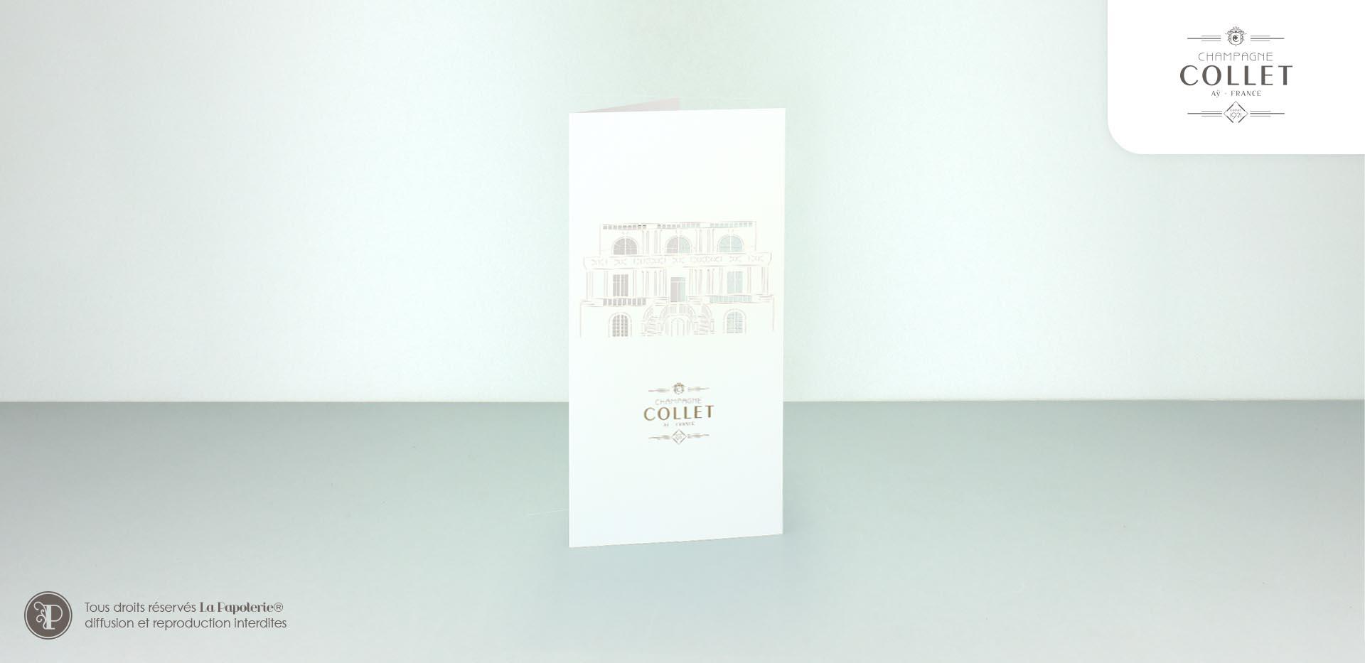 La Papoterie collet-voeux Carte de voeux Collet