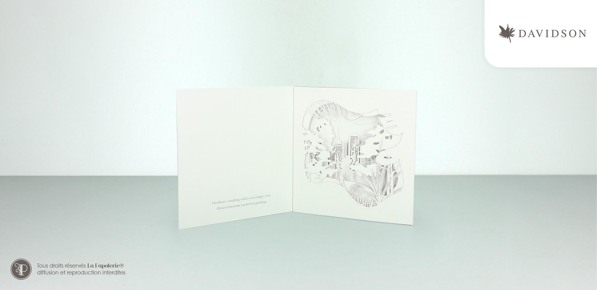 La Papoterie colorz-voeux Davidson greetings card