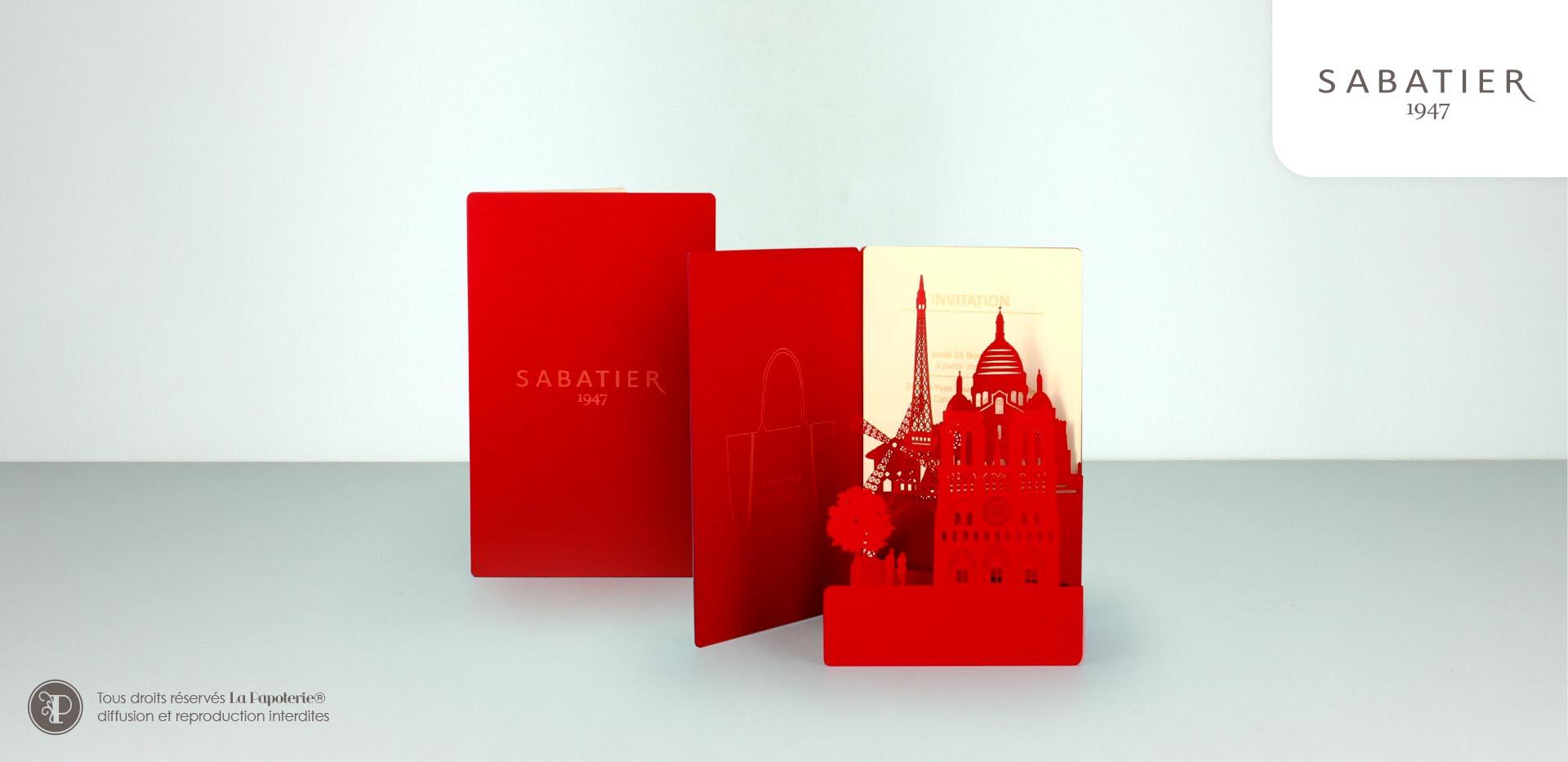 La Papoterie sabatier-carte-panorama Greetings card skyline achitecture Sabatier